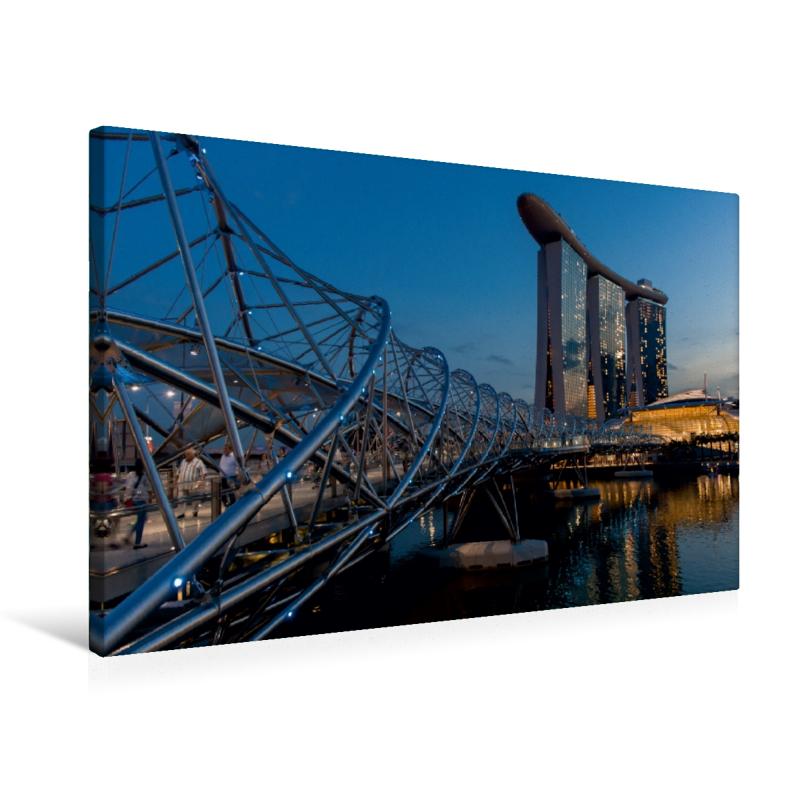 Premium Textil-Leinwand 75 cm x 50 cm quer Helix Bridge mit dem