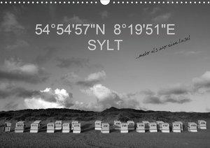 "54°54\'57\""N 8°19\'51\""E SYLT (Wandkalender 2021 DIN A3 quer)"