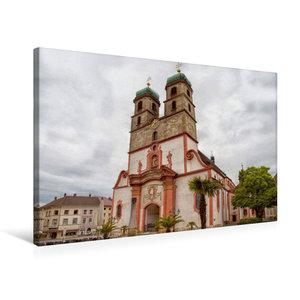 Premium Textil-Leinwand 75 cm x 50 cm quer Fridolinsmünster
