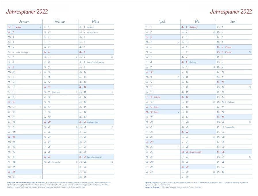 Helme Heine Familienplaner Buch A6 Kalender 2022