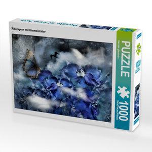 CALVENDO Puzzle Rittersporn mit Himmelsfalter 1000 Teile Lege-Gr