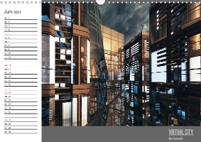 VIRTUAL CITY PLANER 2021 (Wandkalender 2021 DIN A3 quer)