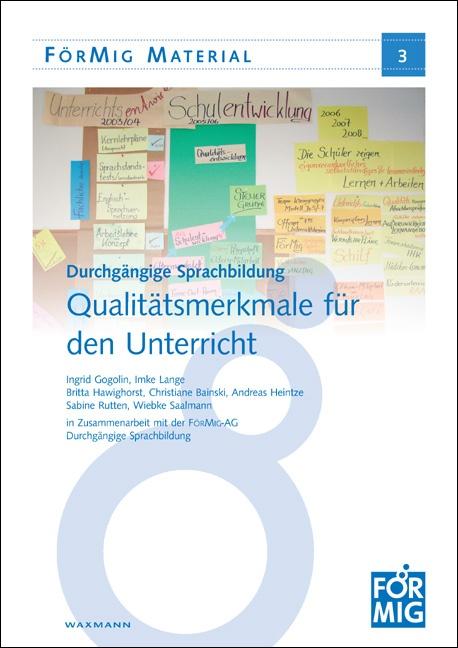 Durchgängige Sprachbildung: Qualitätsmerkmale für den Unterricht