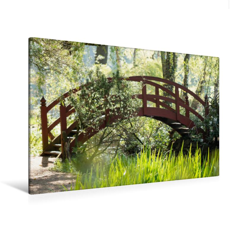 Premium Textil-Leinwand 120 cm x 80 cm quer Paradiesbrücke im Gr