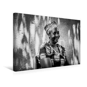 Premium Textil-Leinwand 45 cm x 30 cm quer die Mutter vom Dorf