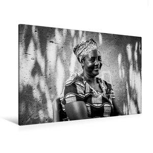 Premium Textil-Leinwand 120 cm x 80 cm quer die Mutter vom Dorf