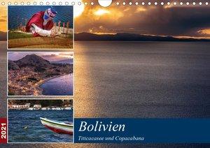 Bolivien - Titicacasee und Copacabana (Wandkalender 2021 DIN A4