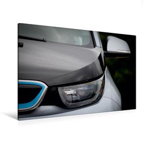 Premium Textil-Leinwand 120 cm x 80 cm quer BMW i3