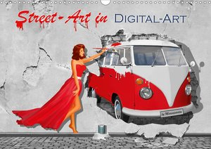 Street-Art in Digital-Art by Mausopardia (Wandkalender 2021 DIN