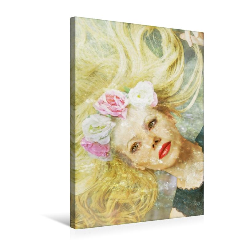 Premium Textil-Leinwand 50 cm x 75 cm hoch Blonde Wassernixe