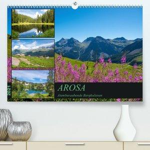 Arosa - Atemberaubende Bergkulissen (Premium, hochwertiger DIN A