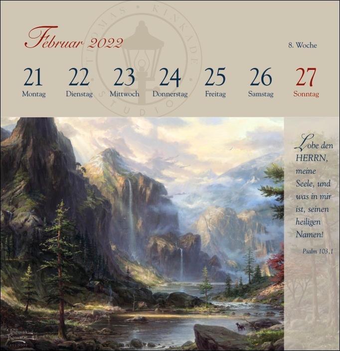 Thomas Kinkade: Premium-Postkartenkalender 2022