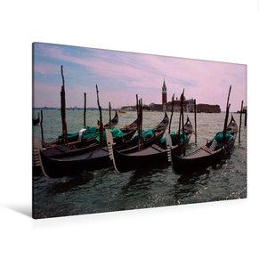 Premium Textil-Leinwand 120 cm x 80 cm quer Venedig Venice