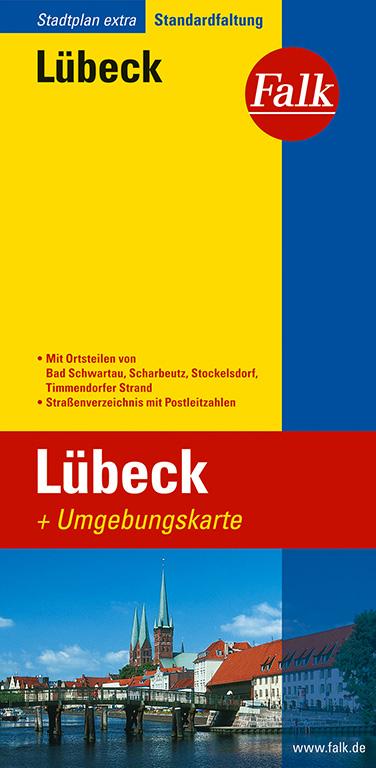 Falk Stadtplan Extra Standardfaltung Lübeck