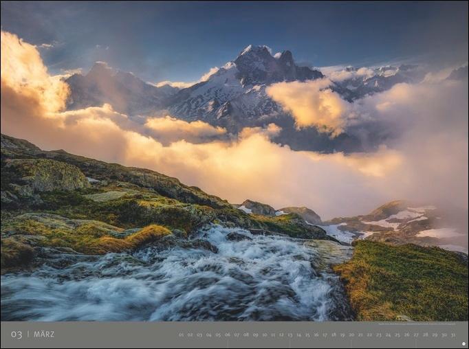 Alpen - Edition Alexander von Humboldt Kalender 2022