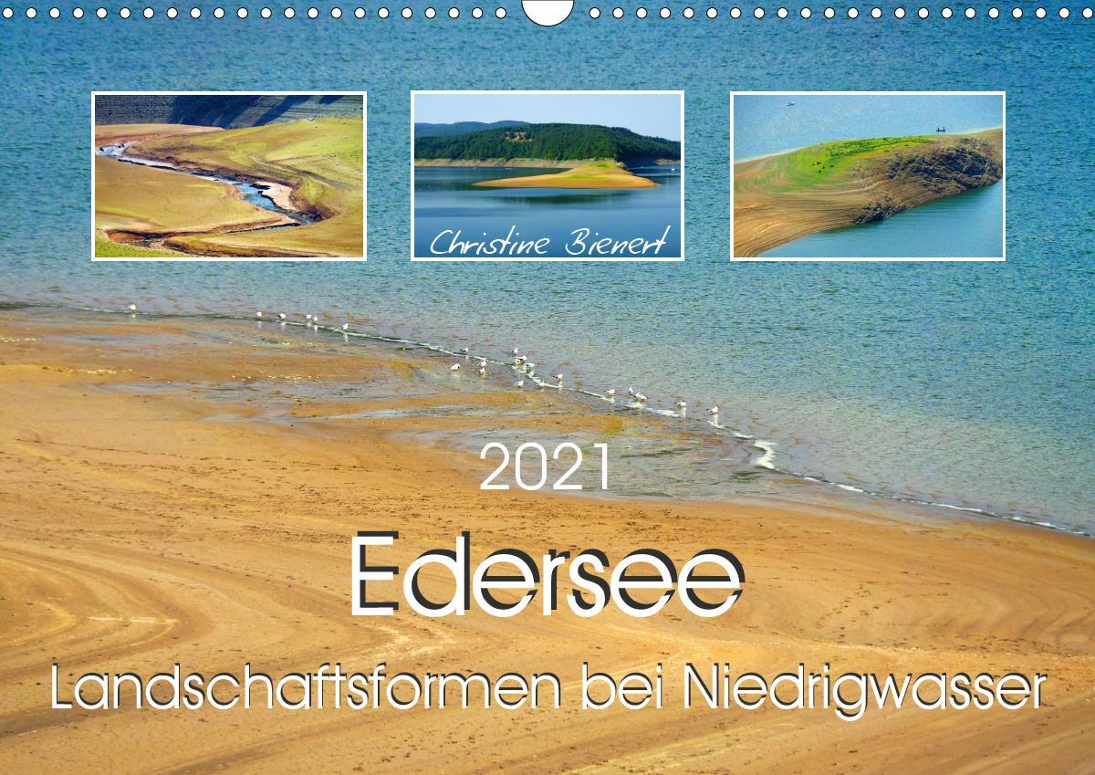 Edersee - Landschaftsformen bei Niedrigwasser (Wandkalender 2021