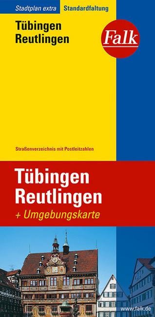 Falk Stadtplan Extra Standardfaltung Tübingen, Reutlingen 1:22 5