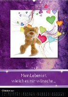 Teddys mit Sprüchen (Wandkalender 2021 DIN A2 hoch)