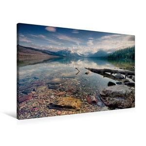 Premium Textil-Leinwand 90 cm x 60 cm quer Glacier NP - Lake McDonald