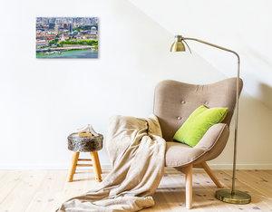 Premium Textil-Leinwand 45 cm x 30 cm quer Singapur - Asiatische Lifestyle Metropole