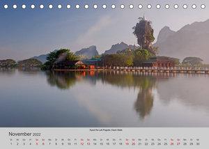 Myanmar 2022 (Tischkalender 2022 DIN A5 quer)
