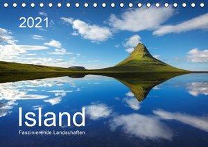 ISLAND 2021 - Faszinierende Landschaften (Tischkalender 2021 DIN