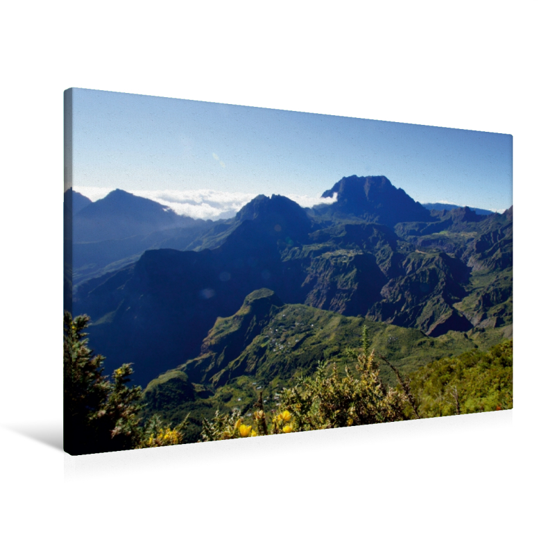 Premium Textil-Leinwand 90 cm x 60 cm quer Aussichtspunkt Le Maï