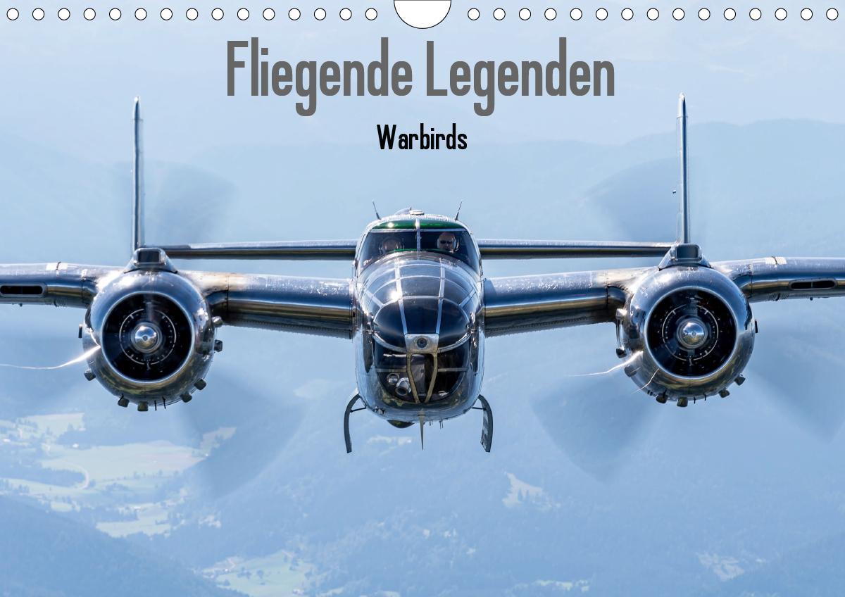 Fliegende Legenden - Warbirds (Wandkalender 2021 DIN A4 quer)