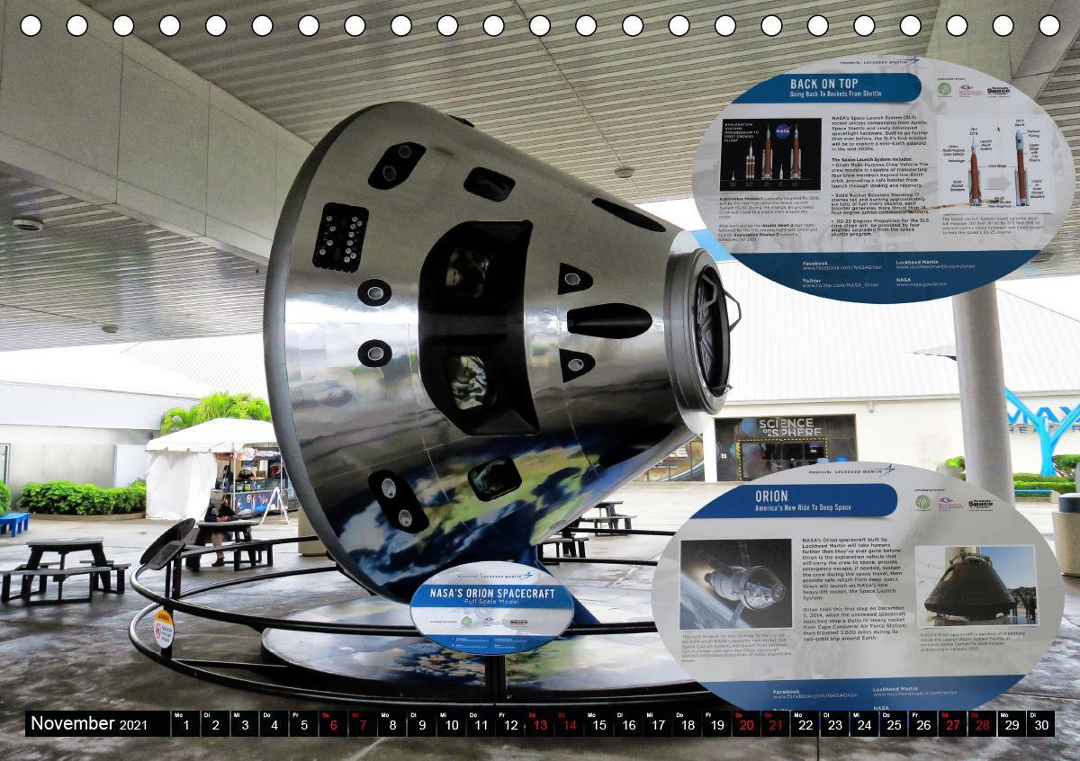 Kennedy Space Center (Tischkalender 2021 DIN A5 quer)