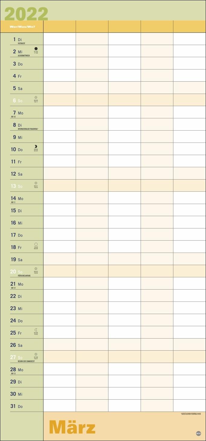 Allroundplaner Kalender 2022