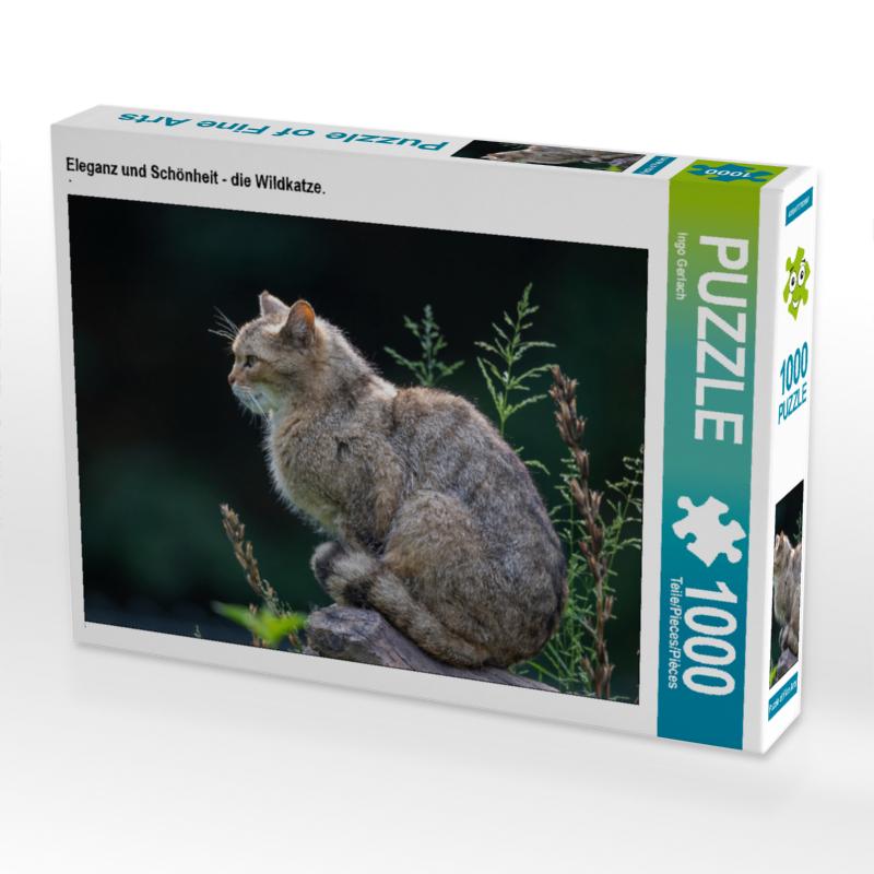CALVENDO Puzzle Eleganz und Schönheit - die Wildkatze. 1000 Teil