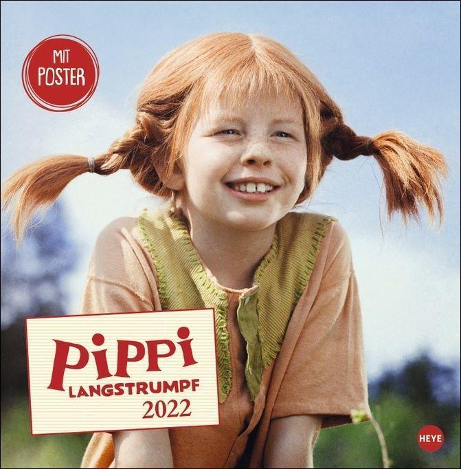 Pippi Langstrumpf Broschurkalender 2022