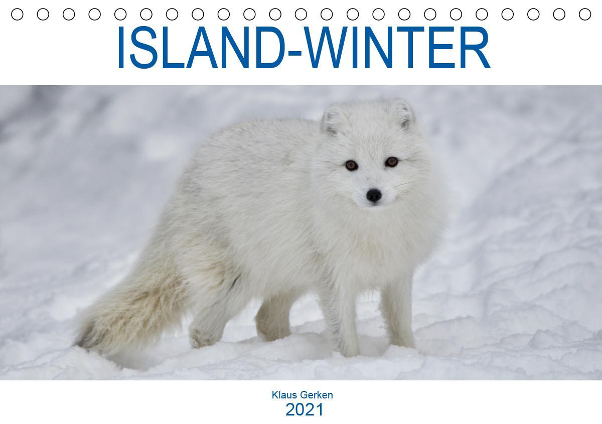 ISLAND-WINTER (Tischkalender 2021 DIN A5 quer)