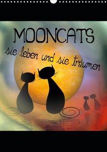 Mooncats - sie leben und sie träumen (Wandkalender 2021 DIN A3 h