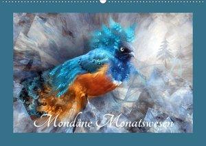 Mondäne Monatswesen (Wandkalender 2021 DIN A2 quer)