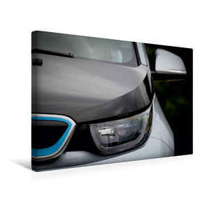 Premium Textil-Leinwand 45 cm x 30 cm quer BMW i3