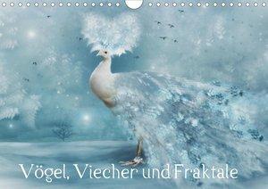 Vögel, Viecher und Fraktale (Wandkalender 2021 DIN A4 quer)