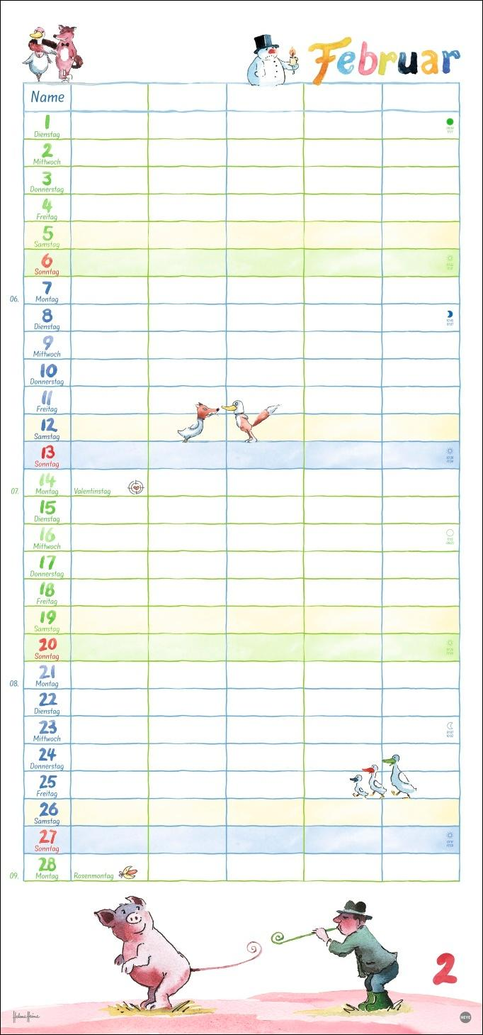 Helme Heine Familienplaner Kalender 2022