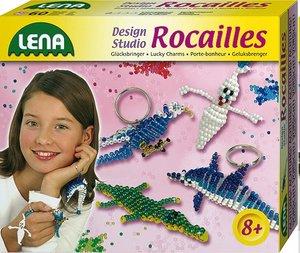 Lena 42560 - Gecko und Delfin, Bastelset Rocailles