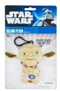 Joy Toy 100248 - Star Wars: Yoda, sprechender Plüschschlüsselanh