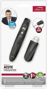 Speedlink SL-6198-RRBK ACUTE Presenter mit Laserpointer, schwarz