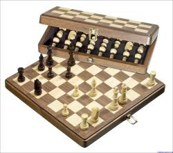 Philos 2625 - Schachkassette Walnuss medium