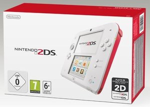 Nintendo 2DS - Konsole - Weiß / Rot