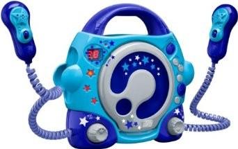 CD-Player CD47 mit 2 Mikrofonen, blau
