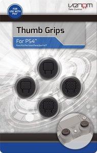 VENOM Thumb Grips, Controller Gummi-Grips 4 Stück, schwarz