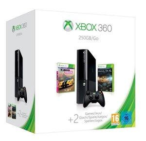 Xbox 360 Konsole Slim, 250 GB (Xbox One Design), Black,  inkl. H