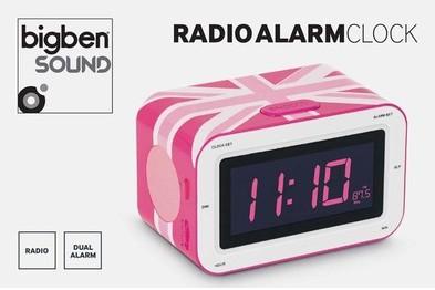 Radiowecker RR30, RADIO ALARMCLOCK - Union Jack, pink