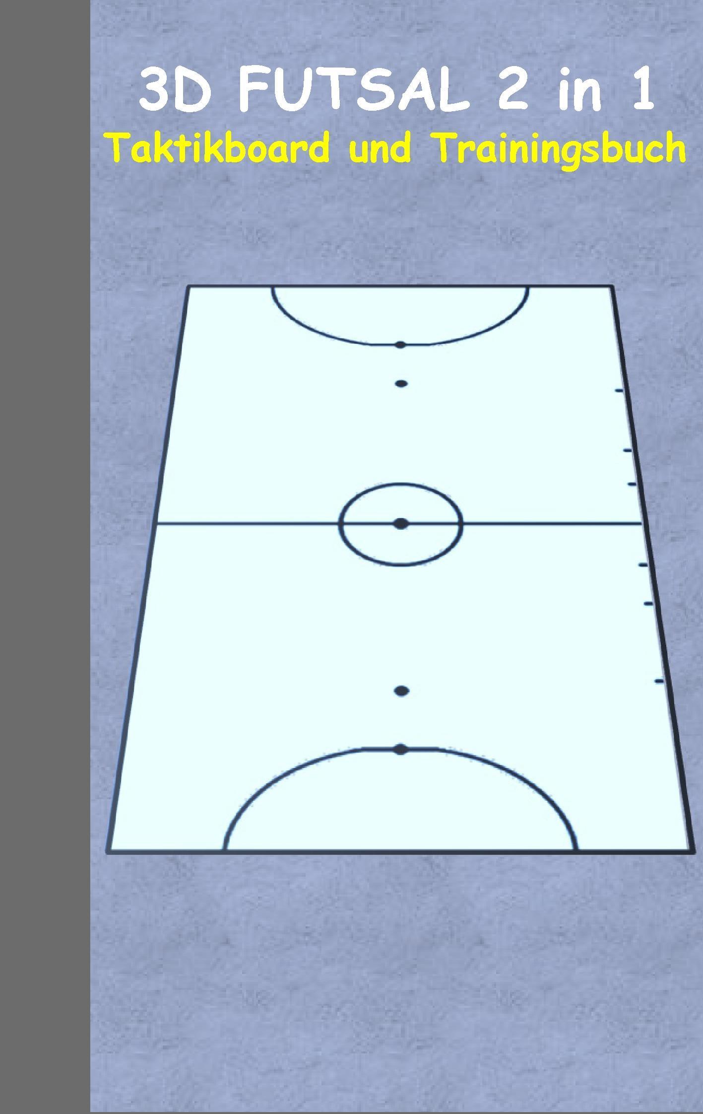 Futsal: 2 in 1 Notiz- und Taktikblock im Pocketformat (Postkarte