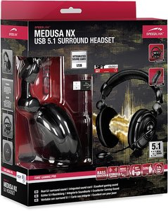 Speedlink MEDUSA NX USB 5.1 Surround Headset, Kopfhörer, schwarz