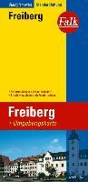 Falk Stadtplan Extra Standardfaltung Freiberg